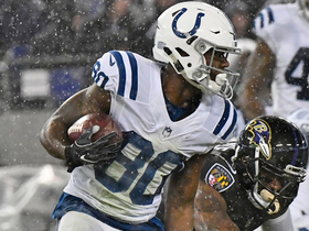 Chester Rogers slides to ground for 19-yard catch
