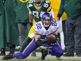 Harrison Smith dives to snatch his second INT of game