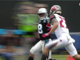 Cam Newton connects with Damiere Byrd for 31-yard gain