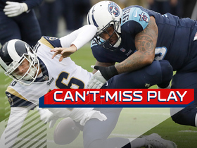 Can't-Miss Play: Jurrell Casey LIGHTS UP Jared Goff, Titans scoop-and-score