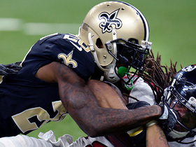 Saints stuff Devonta Freeman at goal line on fourth down