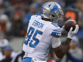 Stafford lays a perfect pass to Ebron for a big 29-yard gain