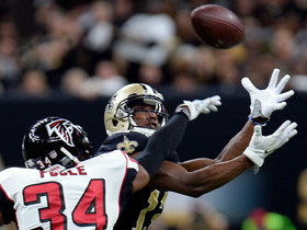 Michael Thomas snags tough catch for gain of 27 yards