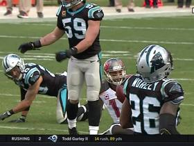 Winston finds Evans between three Panthers for 30 yards