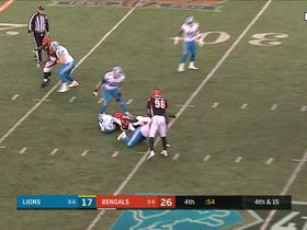 Lawson brings down Stafford on 4th down to put Lions away