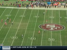Jimmy Garoppolo dials long distance to Kyle Juszczyk for 44 yards