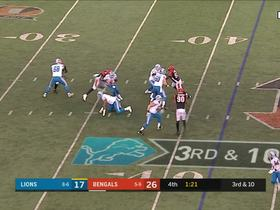 Carlos Dunlap wraps up Stafford in the backfield for a loss of 5