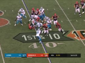 Giovani Bernard shifts into another gear to pick up the first down