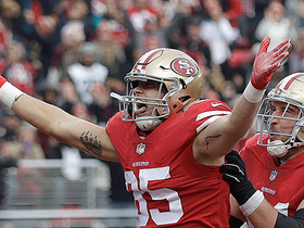 Jimmy Garoppolo fires pass to George Kittle for 8-yard TD