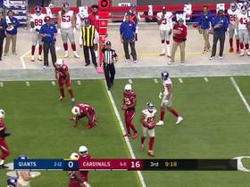 Eli Manning slings pass to Sterling Shepard for first down