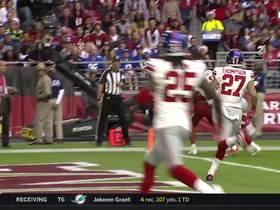 Ross Cockrell intercepts Drew Stanton off forced pass to Fitzgerald