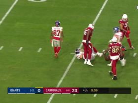 Eli Manning tries to run for first down marker on fourth-and-25, doesn't make it