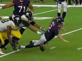 Bud Dupree recovers forced fumble as Steelers take over