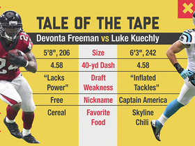 Tale of the tape: Devonta Freeman vs. Luke Kuechly