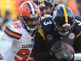 Myles Garrett strip-sacks Landry Jones and Browns recover