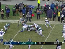Last ditch effort by the Eagles ends at the 1-yard line