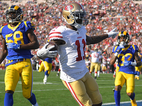 Jimmy G flips it to Goodwin in the flat who races in for 8-yard TD