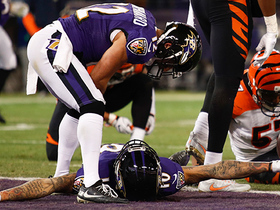 Joe Flacco splits two defenders with a touchdown dart to Chris Moore