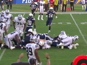 Bosa recovers fumble on Carr's QB-sneak attempt