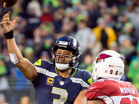 Russell Wilson fires to Jimmy Graham for a 21-yard gain
