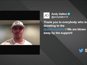 Dalton thanks fans on Twitter for donating over $100k to foundation