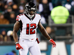 Matt Ryan extends play, finds Mohamed Sanu to convert on third down