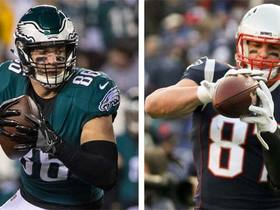 Will Zach Ertz outscore Rob Gronkowski in Super Bowl LII?
