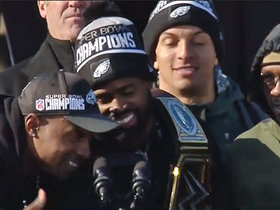 Alshon Jeffery, Torrey Smith thank Eagles fans at team's celebration