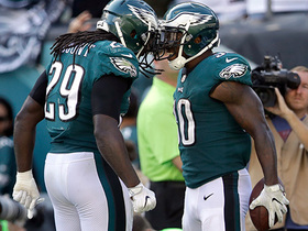 LeGarrette Blount, Corey Clement reflect on Eagles' backfield of brotherly love