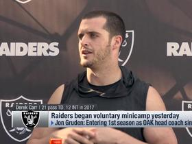 Carr on Gruden's first voluntary minicamp: 'We felt like we kinda knew what we were doing'
