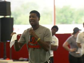 Future coach Jameis Winston? Bucs' QB brings the ENERGY at youth camp