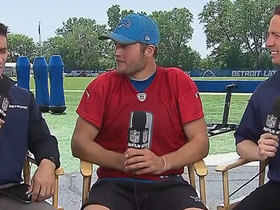 Matthew Stafford discusses finally being one 'older guys' in the locker room after turning 30