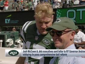 Jets CEO, players send letter to NY governor lobbying for bail reform