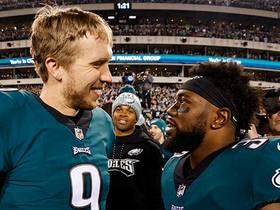 Clay Harbor tells the story of Nick Foles' four-hour film session