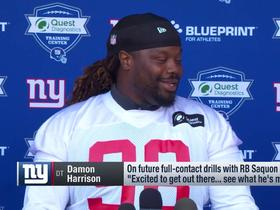 Snacks vs. 'SaQuad': Giants' stars discuss friendly practice rivalry