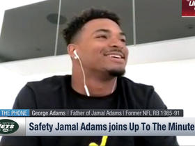 Jamal Adams' dad, George, surprises him with a call during 'Up to the Minute'