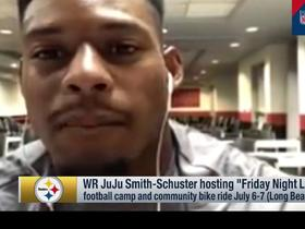 JuJu Smith-Schuster discusses his upcoming youth camp, bike ride