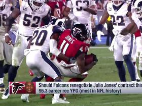 How risky is it for the Falcons not to meet Julio Jones' new contract requests?