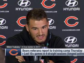 Trubisky makes things clear: 'I'm tired of all the doubts, all the comparisons'
