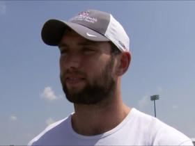 Luck: 'I don't think I'm being too unrealistic' about throwing progress