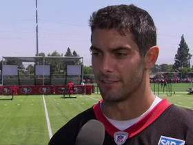 Garoppolo discusses 'cat and mouse' game he plays with Sherman in practice