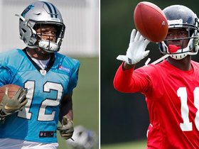 Which rookie WR will have better numbers: Calvin Ridley or D.J. Moore?
