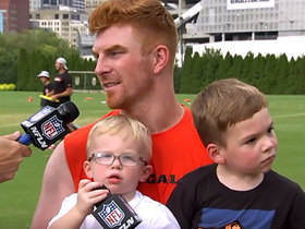 Andy Dalton brings sons Noah and Nash on NFL Network set after Bengals training camp