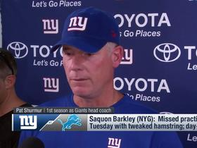 Shurmur: Saquon is 'day-to-day,' will play if he's ready