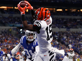 John Ross hauls in first NFL TD on dime from Dalton