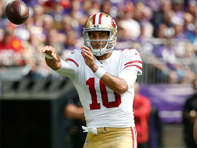 Garoppolo goes WAY downtown to Kyle Juszczyk for 56 yards