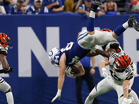 Jack Doyle LEAPS over defender for first down