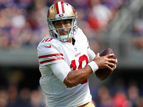 Garoppolo has all day to throw, darts 36-yard pass to Kittle