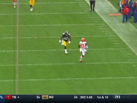 Landry loses ball on stumbling 39-yard catch, but he's ruled down