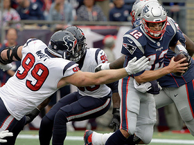 J.J. Watt gets great jump to help sack Tom Brady